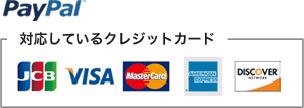 paypal対応クレジット一覧 JCB VISA MasterCard AmericanExpress DISCOVER
